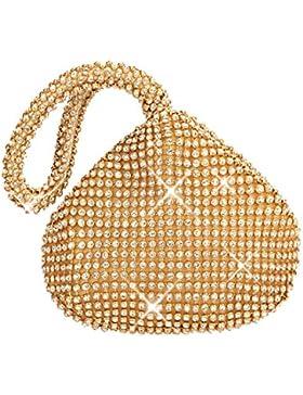 Flada Girl's and Ladies Handtasche Evening Clutch Bag Strass Clutch purse für PROM Wedding Party