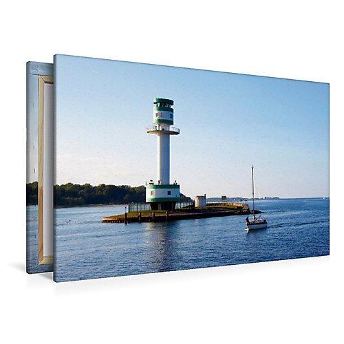 Calvendo Premium Textil-Leinwand 120 x 80 cm Quer-Format Leuchtturm Kiel-Friedrichsort   Wandbild, HD-Bild auf Keilrahmen, Fertigbild auf hochwertigem Vlies, Leinwanddruck von Veronika Rix