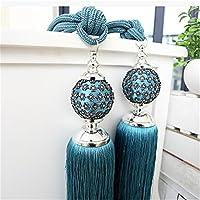 Crochet de rideau drapé VS Attache de rideau Raccordement Europe Cordon Bande serrée/Lot de 2, bleu, 80 cm