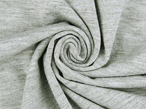 EasyMy Damen Kleid Tunika Casual T-Shirt Schulterfrei Cold-shoulder Grau1