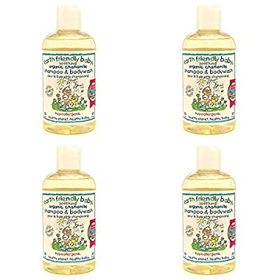 (4 PACK) - Earth/F Soothing Chamomile Shampoo & Body Wash | 250ml | 4 PACK - SUPER SAVER - SAVE MONEY by Lansinoh Laboratories Inc