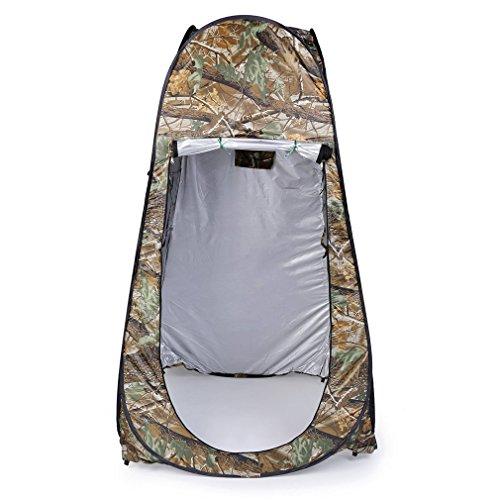 Al aire libre vestuario, leshp Pop Up tienda de campaña 120cm x 120cm x 195cm 180T portátil impermeable bolsa de playa de ducha habitación de Camping plegable con camuflaje