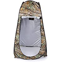 Outdoor Changing Room, LESHP Pop Up Tent 120cm x 120cm x 195cm 180T Portable Waterproof Camping Beach Shower Room Foldable With Bag Camouflage