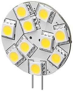 12er Set Goobay 30333 LED-Chip für G4 Lampensockel mit 10 SMD LEDs Leuchtfarbe tageslicht weiß