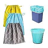 Sac à couches organisateur réutilisable élastique sac à couches poubelle doublure de stockage