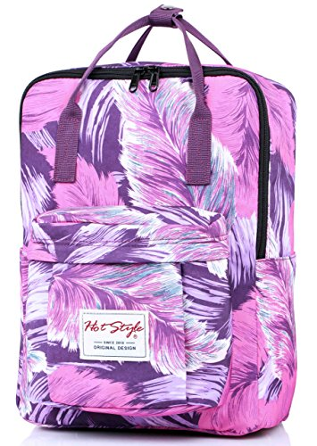 BESTIE-Tropical-Mochila-Casual-Bolsas-Mujer-para-Notebook-14-inch-37x26x13cm
