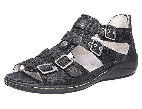 Waldläufer Femmes Sandalettes Nero Noir, (Nero) 582002175/001 Nero
