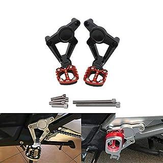 CHUDAN XADV Motorrad Hintere Fußstützen CNC Aluminium Einstellbar Fußrasten Pedale Auflager und Passenger Pedal Fit Für Für Honda XADV 750 2017 2018,red