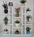 CAIJUN Legno massiccio cremagliere di fiori interno montaggio Vaso di fiori espositore , 2 colori, altezza 47,2 pollici organizzatore Scaffale Fioriera ( Colore : Bianca )