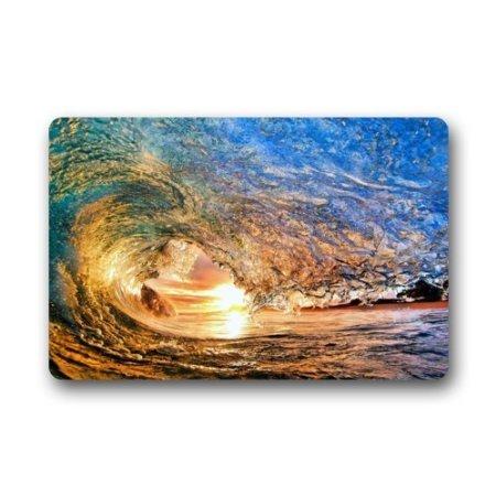 jesspad Sea Surfen Wellen Fußmatte Coral Samt Fußmatte Bodenmatten - Matratze-sensor
