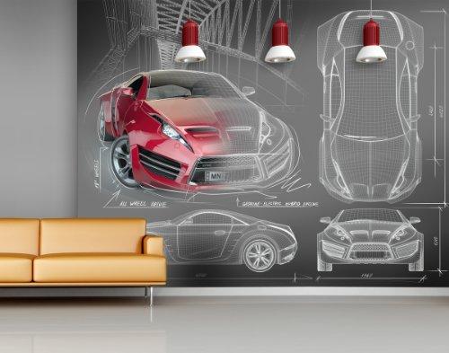 XXL-TAPETEN - FOTOMURAL   MOTIVO CONCEPT CAR (SIN PVC  SIN OLOR  IMPRESION DE LATEX SIN DISOLVENTE)