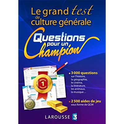 Le grand test de culture générale «Questions pour un champion»