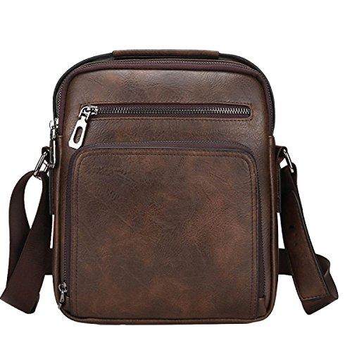Die Beutel-Schulterbeutelart Der Art Und Weise Schiefes Kreuzpaket-Handtaschen-Aktenbeutel Große Kapazität Brown