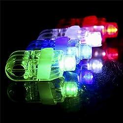 LANDFOX 10PCS LED se enciende para arriba los anillos de dedo que destellan partido del resplandor favorece a niños juguetes de los niños