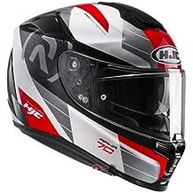 HJC Moto Casco Rpha 70 LIF MC1, Negro/Blanco/Rojo, tamaño M