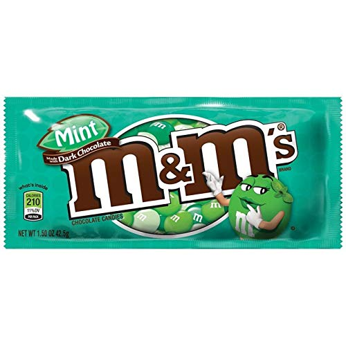 M&Ms Mint Dark Chocolate (Minze, dunkle Schokolade) 1 Beutel aus USA -