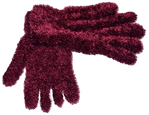 OCTAVE® Ladies Feather Feel Magic Gloves in Range of Beautiful Colours - One Size, Colour Berry