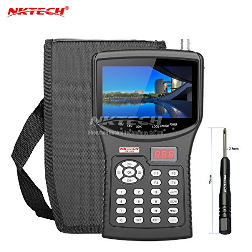 "Price comparison product image NKTECH HD Digital Satellite TV Signal Finder Meter NK-620 CCTV Camera Tester AHD TVI CVI Analog Cameras Video Test Monitor 4.3"" TFT LCD Support DVB-S/S2 MPEG-4 MPEG-2"
