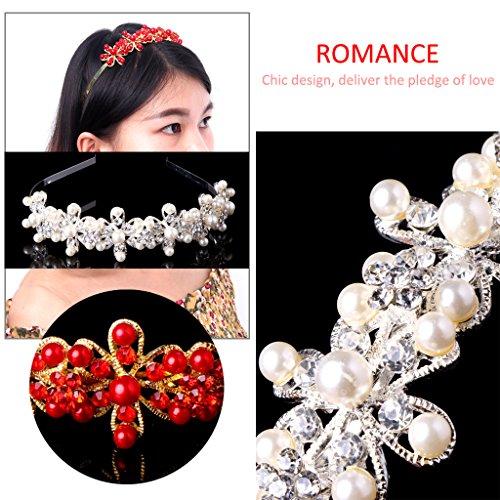 Dairyshop corona principessa diadema cerimonia nuziale, Proms, spettacoli, principessa Feste, Compleanno (Rosso) Rosso