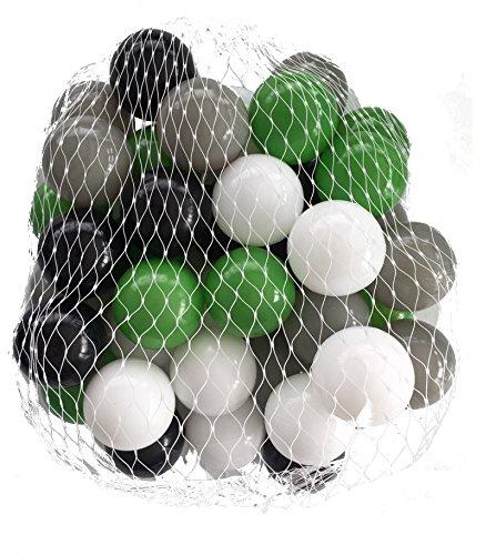 Palloni per bagno di palline mix verde misto con grigio, nero, bianco e trasparente