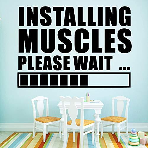 Muskeln Wandkunst Aufkleber Wandaufkleber Wandbild Dekor Wohnzimmer Schlafzimmer Abnehmbare Für Kinderzimmer Dekoration Braun M 30 cm X 42 cm ()