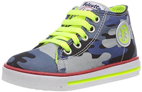 Naturino FALCOTTO MAGIC, Sneaker per neonati bambino, Multicolore (Mehrfarbig (BLEU -GIALLO FLUO)), 23