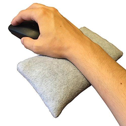 Handgelenkauflage für Computer Maus-mit optional mikrowellengeeignet Therapie für Sehnenscheidenentzündung und Unterarm Beschwerden Grey THIN - Kissen Mikrowellengeeignet