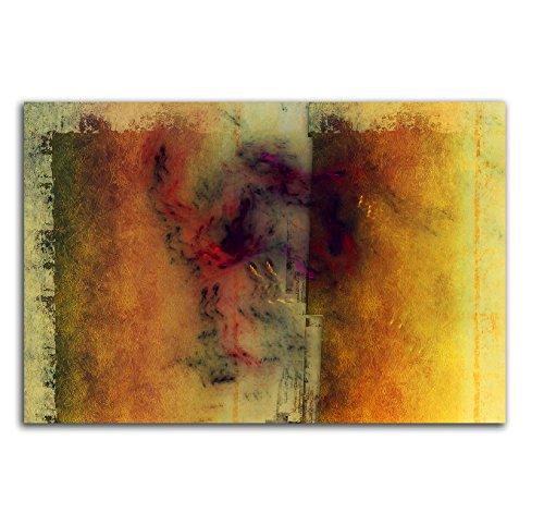 Farbharmonie Herbstbild Wärme - Abstraktes Keilrahmenbild Abstrakt184_cm_dekoratives...