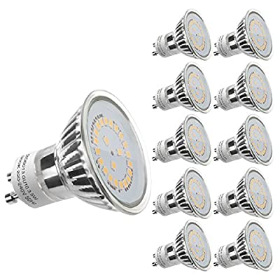 LE GU10 LED Light Bulbs, 50W Halogen Bulbs Equivalent, MR16 4W, 350lm, Warm White, 2700K, 120¡ã Beam Angle, Recessed Lighting, Track Lighting from Lighting EVER