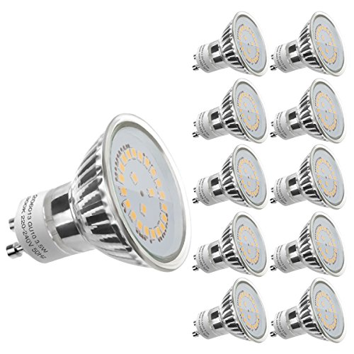 LE 10 Pack GU10 LED Light Bulbs, 50W Halogen Bulbs Equivalent, MR16 3.5W, 350lm, Warm White, 3000K, 120° Beam Angle, Recessed Lighting, Track Lighting Test