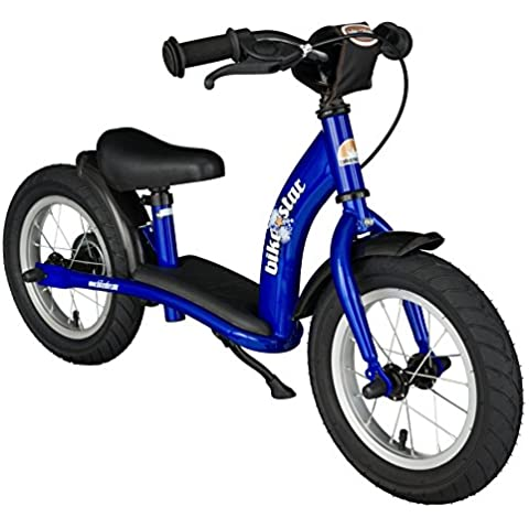 BIKESTAR® Premium 30.5cm (12 pulgadas) Bicicleta sin pedales para los exploradores mas valientes a partir de 3 años ★ Edición Clásica ★ Azul