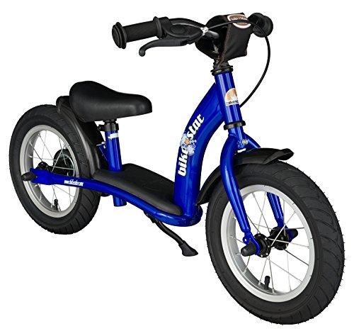 BIKESTAR - Vélo Draisienne Enfants pour Garcons et Filles de 3 - 4 Ans - Vélo sans pédales évolutive 12 Pouces Classique - Bleu