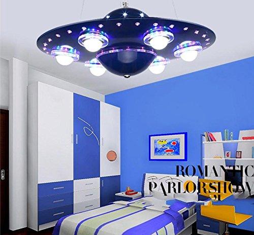 WXX Lampada di camera da letto bambino creativo Lampadario UFO disco volante LED il soggiorno studio lampada , blue