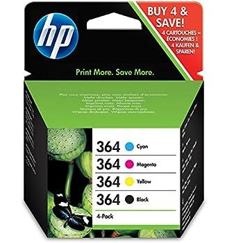 HP No.364 Ink Cartridges - Black/ Cyan/ Magenta/ Yellow