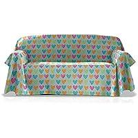 Agatha Ruiz de la Prada Foulard Multiusos Love, tamaño 180x270, color unico
