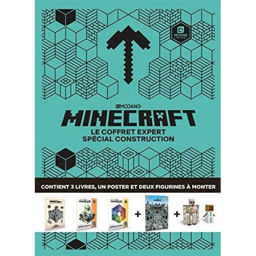 Minecraft - Le coffret expert spécial construction : Avec 3 livres, 1 poster et 2 figurines à monter