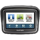 TomTom Rider EU 23 Motorrad-Navigationsgerät (10,9 cm (4,3 Zoll) Display, Free Lifetime Maps, Europa 23, kurvenreiche Strecke, Tyre Pro) schwarz