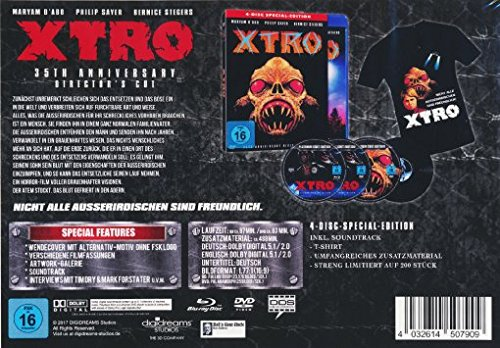 X-tro - 4-Disc Special-Edition (BD+2 x DVD inkl. umfangreichen Bonusmaterial + Soundtrack) plus T-Shirt!! - limitiert auf 200 Stück!! [Blu-ray] (Fantasy-film-t-shirt)