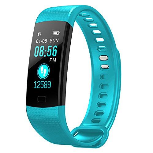 DMMASH Fitness Tracker, Activity Tracker Uhr mit Pulsmesser, IP67 Wasserdicht Smart Armband mit Kalorienzähler Schrittzähler Uhr Für Android und IOS Für Kinder Frauen Männer,Green