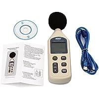 Lychee Avancé Professionnel Sonomètre Numérique LCD Moniteur Grand Écran,Sonomètre Décibelmètre 30dB ~ 130dB pour mesurer le niveau de nuisance sonore de votre environnement