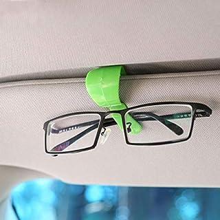 JenNiFer 2 Stücke Multifunktionale Auto Sonnenblende Gläser Clip Fest Montieren Ticket Kartenhalter Lagerung Clips - Rot + Grün
