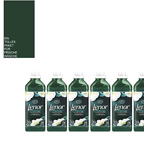 (1L/4,81€) 6 x 900ml Lenor Weichspüler - Set/Smaragd & Elfenbeinblüte / 180 WL/Ein wunderbarer Duft