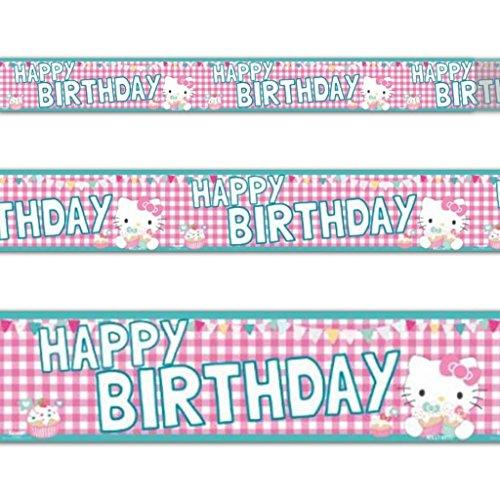 (Hello Kitty 12,5x 365cm Folien-Banner)