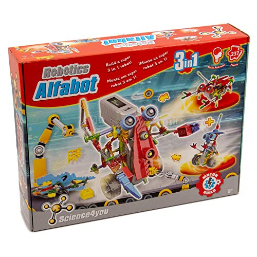 Science4you-Robotics Robotics Alfabot 3 En 1 - Juguete Científico Y Educativo Stem para niños +8 años,, Regular (605176)