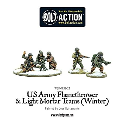 Warlord Games, US Army Flamethrower & Light Mortar teams (Winter)