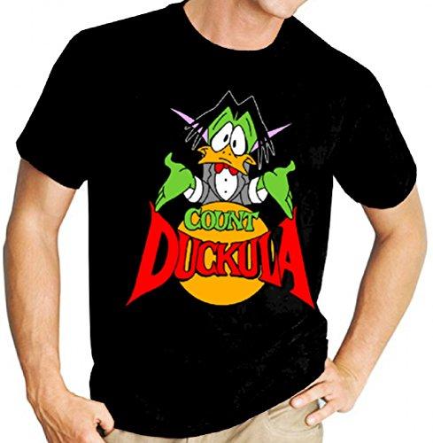 Count Duckula Mens Black Tee Shirt, S to 3XL