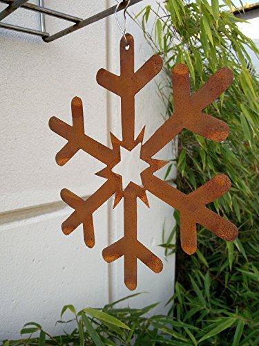 Garteninspiration Schneeflocke Gartendekoration