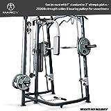 MARCY Heim-Gym Multipresse mit Hantelbank Smith-Maschine, Schwarz, One Size - 8