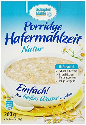 Schapfenmühle Porridge natur, 10er Pack (10 x 260 g) -