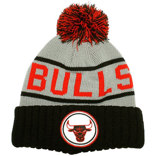 Mitchell & Ness Bonnet Homme Chicago Bulls Grey High 5 Cuffed Knit